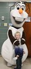 """Braden Holmes, 7, poses with Olaf from Disney's """"Frozen"""" as Brecknock Elementary School hosts their annual Gingerbread House making on Friday, Dec. 5. Emily Thiel - 21st Century Media"""