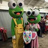 Megan Pettinato with Cookie and Scoop from Sweet Frog, Wyomissing,