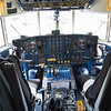 Cockpit of Fat Albert, C-130 Lockheed Blue Angels support plane