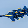 The Blue Angels perform