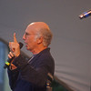 """RUSSELL L. FRAYRE<br /> 8711 <br />  Surprise guest Larry David, the comedian who created """"Seinfeld"""" and stars in the HBO series """"Curb Your Enthusiasm,"""" made a point with his comment """"I would like to say it's a pleasure to be here, but that would be a miserable lie,""""  He sang a heartfelt tune dedicated to song writer Allen Sherman  and left the audience glowing."""