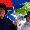 RUSSELL L. FRAYRE<br /> 8711<br /> Fred abd Diana Uehlien of Osterville put on a happy face at the TD Bank Pops by the Sea concert .