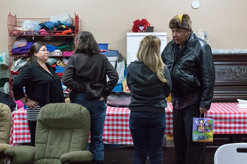 Moosonee Elders Gathering Centre Christmas Santa visit and Keewaytinok Native Legal Services consultation.