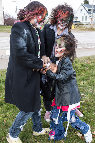 Zombie Walk in Moosonee 2013 October 26th.