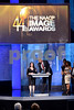 LOS ANGELES, CA - FEBRUARY 01:  Director Deborah Morales and author Kareem Abdul-Jabbar speak onstage at the 44th NAACP Image Awards at The Shrine Auditorium on February 1, 2013 in Los Angeles, California.  (Photo by Earl Gibson III/WireImage)