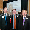 Bob Wood of Bradley Arrant Boult Cummings, left to right, Randy Bostic, of Lipscomb University, and Kent Cleaver of Avenue Bank.