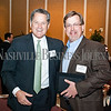 Tony Giarratana of Premier Parking, left, and Todd Jackovich of Stonehenge Real Estate Group