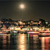 Parade of Lights, Newport Beach, Balboa Island, Full Moon Effect.