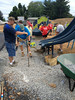 Photo by Shea Singley. The community came out to help build the new Perry Elementary Center playground on July 26.
