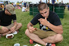 Ribfest - 2014 - Naperville, Illinois - Sponsored by the Exchange Club of Naperville - People enjoying the food at Ribfest!