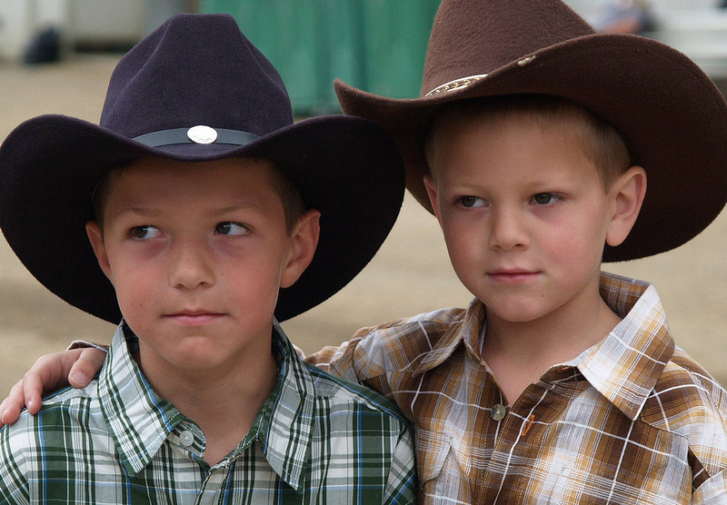 Zach, Brandon,   Rowell Ranch Rodeo 2006
