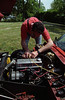 Checking the spark plugs, just to make sure and it looks good for the photo.