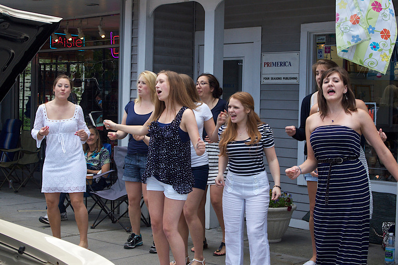 "Russell L Frayre   6/17/12    The ladies of ""Cape Harmony"" Perform on main street."