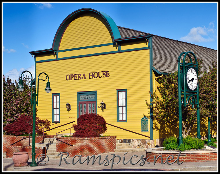 Historic Opera House, downtown Grand Ledge. The restored building sits along the banks of the Grand River and is a focal point of the area.