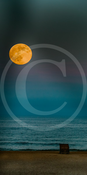 This supermoon has struck a responsive chord with art-lovers. You can almost breathe in the salt air as the radiant moon kisses the surf on a dreamlike summer night.