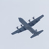 RCAF C-130 Hercules 613 over Moosonee Airport. Ramp down at rear.