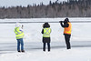Photographers getting shots of military exercise at Moosonee Airport.