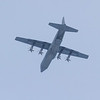 RCAF C-130 Hercules 613 over Moosonee Airport. Ramp down at rear. Note light visible.