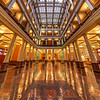 Landmark Center Atrium - view from the ground floor.  One of the great architectural interior spaces in downtown St. Paul, the Landmark Center has anchored the Rice Park area since the 19th Century.