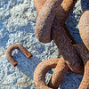 Chains on rock.  Southwest Harbor, ME