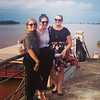 Rani, Clare and Kia at the Mekong River, Nong Khai