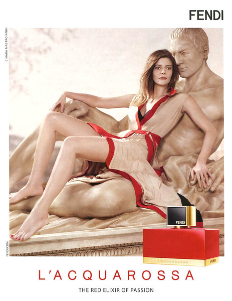 FENDI L'Acquarossa 2013 Italy 'The red elixir of passion' Chiara Mastroianni by Jean-Baptiste Mondino