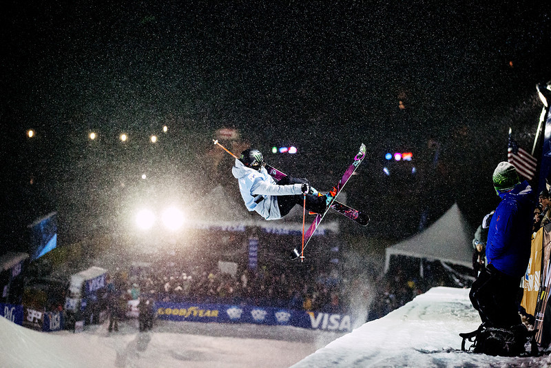 Brita Sigourney (USA) competes at Copper Mountain HP World Cup  © Sarah Brunson