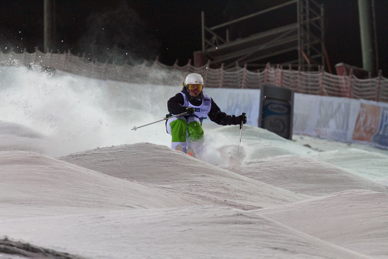 Andi Naude (CAN) competes at Ruka Moguls World Cup © FIS
