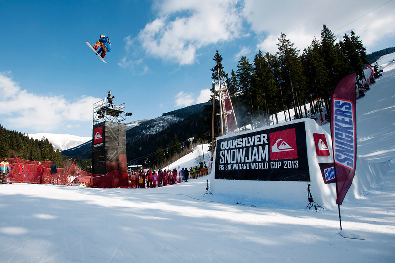 Roope Tonteri (FIN) at Slopestyle World Cup Spindleruv Mlyn, Czech<br /> <br /> © David Blazek