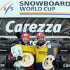 FIS Snowboard World Cup - Carezza ITA - PSL - Calve Caroline CAN and Dufour Sylvain FRA  © Miha Matavz