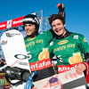 Konstantin Schad and Paul Berg of GER 1 celebrate win in team sbx event at Montafon  © FIS