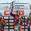 Podium women at Montafon, f.l.t.r.: 2nd ranked Dominique Maltais (CAN), 1st ranked Eva Samkova (CZE), 3rd ranked Helene Olafsen (NOR)  © FIS