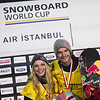 FIS Snowboard World Cup - Istanbul TUR - Big Air - Ty WALKER USA and Seppe SMITS BEL © Miha Matavz