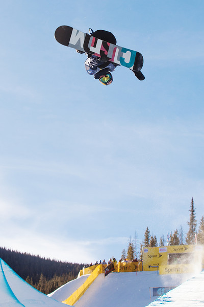 Ben Ferguson (USA) competes at 2013 Sprint U.S. Snowboarding Grand Prix at Copper Mountain, CO FIS World Cup Halfpipe snowboarding qualifiers Photo: Sarah Brunson/U.S. Snowboarding