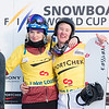 SBX World Cup leaders after Lake Louise Dominque Maltais (CAN) and Jarryd Hughes (AUS)  © Arden Shibley / @SnarePhoto