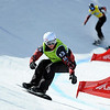 FIS Snowboard World Cup - La Molina SPA - SBX - Finals - HILL Kevin CAN in Green, HOLDEN Jake CAN in Yellow,  DIERDORFF Mick USA in Red