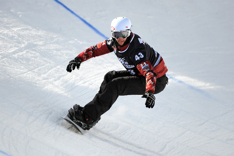 FIS Snowboard World Cup - La Molina SPA - SBX - Qualifications - HILL Kevin CAN © Miha Matavz