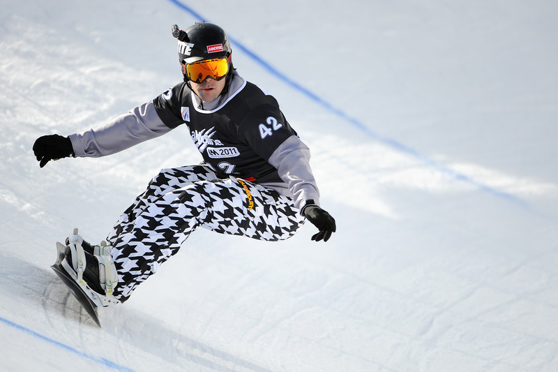 FIS Snowboard World Cup - La Molina SPA - SBX - Qualifications - BAUMGARTNER Nick USA   © Miha Matavz