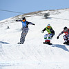 FIS Snowboard World Cup - La Molina SPA - SBX - Finals - RAMOIN Tony FRA in Yellow, BAUMGARTNER Nick USA in Blue, MATTEOTTI Luca ITA in Green, OLYUNIN Nikolay RUS in Red   © Miha Matavz