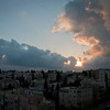 View from our room, Dan Panorama, Jerusalem - sunset over Jerusalem, the last night.