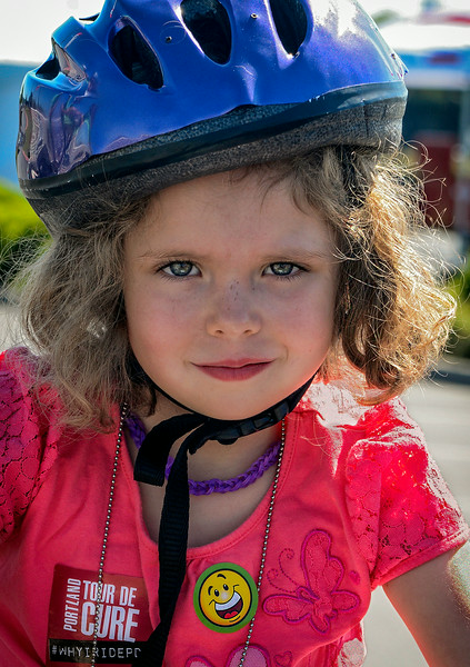 Young participant in the American Diabetes Association Tour de Cure in Hillsboro, Oregon on July 26, 2014.