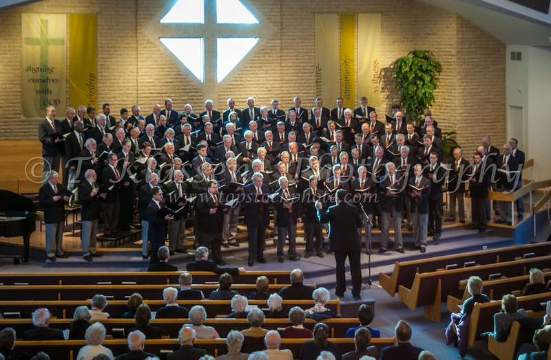 The Faith and Life Male Choir concert at the Bethel Mennonite Church, March 2, 2003 in Winnipeg, Manitoba, Canada.