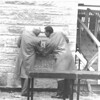 1959 - Laying the education building corner stone