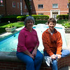 Suzie and Patti in the courtyard of Forrer Hall - May 2006