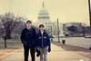 Michael & Jonathon in front of the United States Capitol (February 11, 1989 / Washington, DC) -- Michael & Jonathon