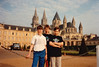 Jonathon & boys at the Abbey of Saint Étienne [L'Abbaye-aux-Hommes] in Caen during Sixth Grade field trip - (May 24, 1989 / Caen, département du Calvados, Normandy, France) -- Jonathon