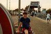 Jonathon at the Pegasus Bridge Memorial on Sixth Grade field trip - (May 23,1989 / Pegasus Bridge Memorial, Normandy, France) -- Jonathon