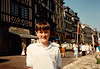 Jonathon shopping in Rouen during Sixth Grade field trip - (May 24,1989 / Rouen, Seine-Maritime département, Normandy, France) -- Jonathon