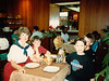 MaryAnne, Jonathon & boys on Sixth Grade field trip dining in Caen Restaurant - (May 22, 1989 / Caen, département du Calvados, Normandy, France) -- MaryAnne & Jonathon