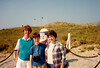 MaryAnne, Jonathon & Dottie McCarthy with Liberty Road Monument during Sixth Grade field trip - (May 23,1989 / Utah Beach, Normandy, France) -- MaryAnne, Jonathon & Dottie McCarthy